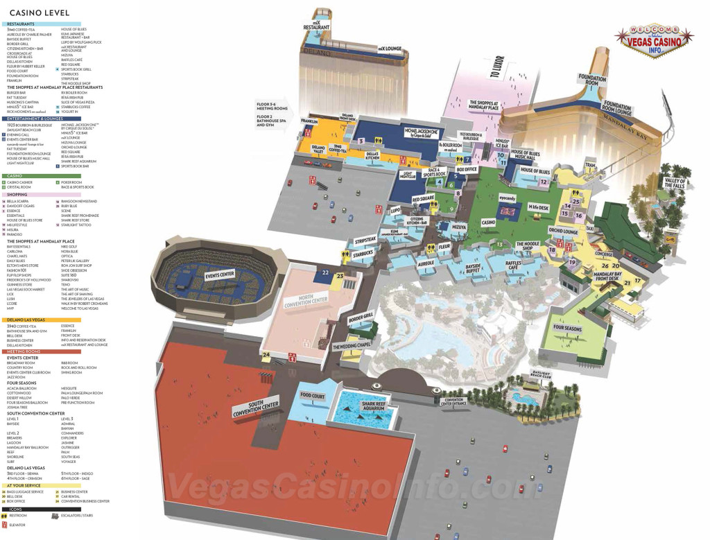 3D map of Mandalay Bay