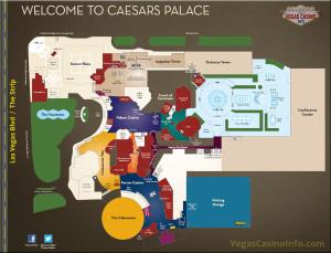 2015 Map of Caesars Las Vegas